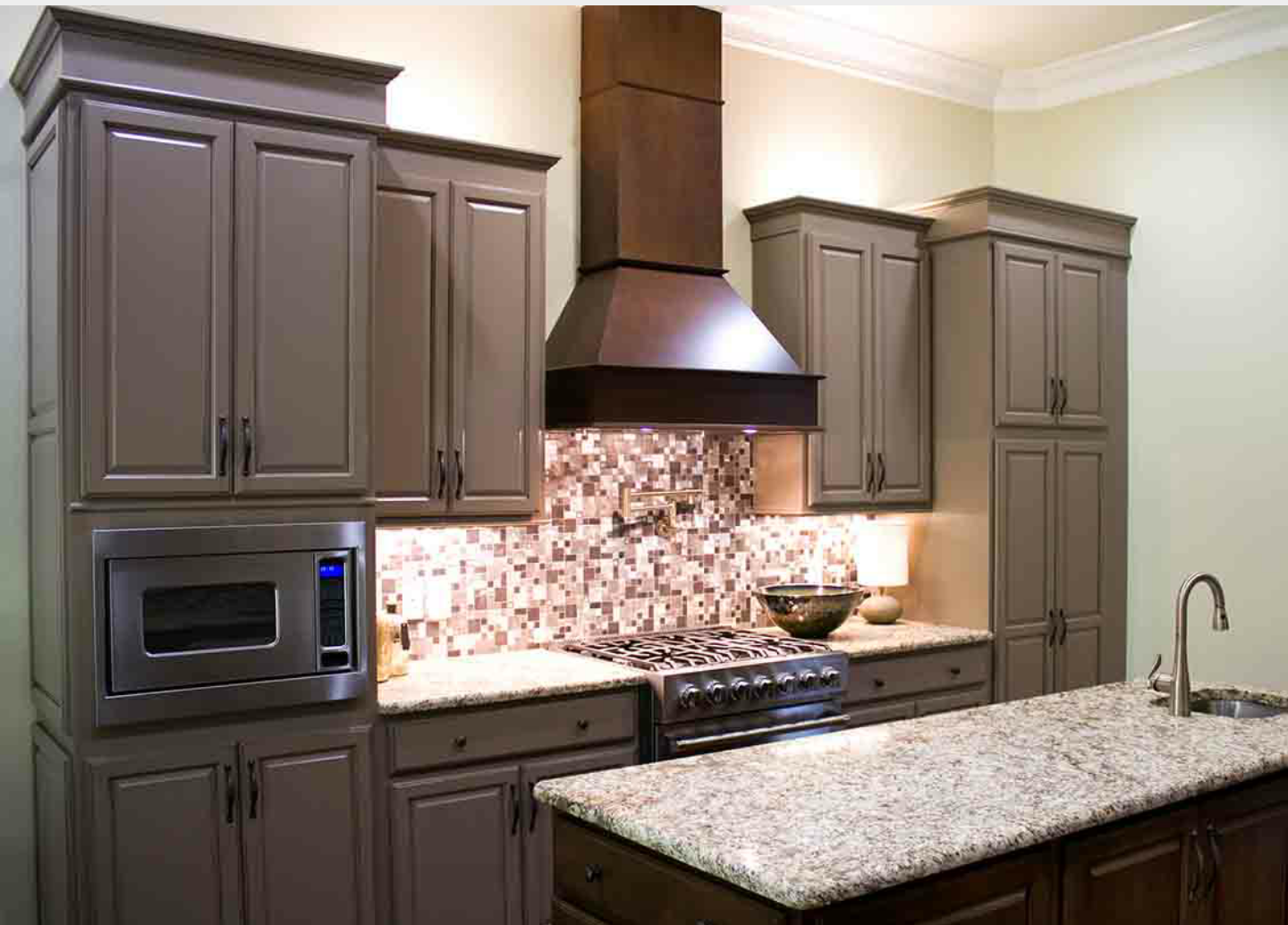 Refinished Black Kitchen Cabinets