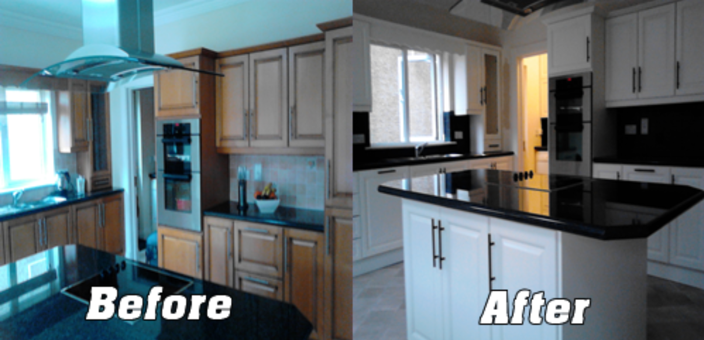 resurfacing kitchen cabinets before and after home cabinets refinishing and cabinet painting denver 25548